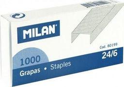 Zszywacz Milan Zszywki metalowe 24/6 1000szt MILAN