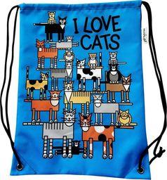 Mesio.pl Worek szkolny plecak WR1011 Love cats MESIO