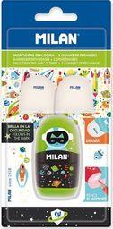Milan Temperówko-Gumka Capsule SHS + 2 gumki MILAN