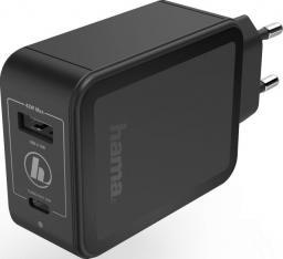 Ładowarka Hama USB-A  czarna