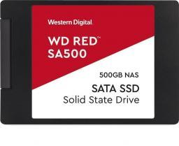 Dysk SSD Western Digital Red SA500 500 GB 2.5'' SATA III (WDS500G1R0B)