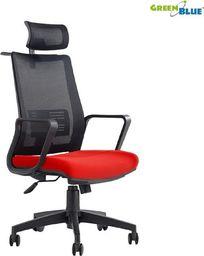 GreenBlue GreenBlue GB180 Fotel biurowy ergonomiczny regulowany zagłówek, podparcie pleców