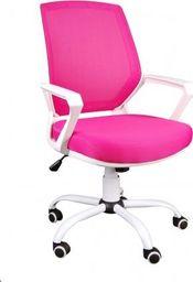 GIOSEDIO Fotel biurowy GIOSEDIO różowo-biały, model FBB122 FBB122