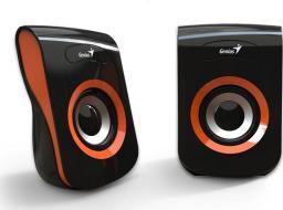 Głośniki komputerowe Genius SP-Q180 Czarno-pomarańczowe (31730026402)
