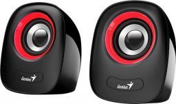 Głośniki komputerowe Genius SP-Q160 Czarno-czerwone (31730027401)