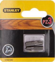 Stanley końcówki wkrętakowe PZ3x25mm 2 sztuki (STA61042)