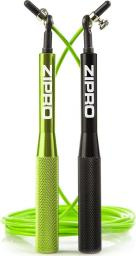 Zipro Skakanka metalowa lime green