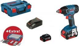 """Bosch klucz udarowy 18V 1/2"""" HEX 1/4"""" 180Nm 2x4,0Ah + akcesoria I-BOXX GDX 18 V-LI (0615990K25)"""