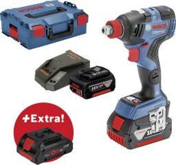 """Bosch klucz udarowy 18V 1/2"""" HEX 1/4"""" 200Nm 2x5,0Ah + 1x4,0 procore GDX 18V-200C (0615990K7G)"""