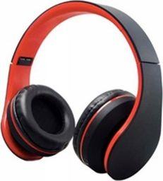 Słuchawki Roneberg Nauszne słuchawki bezprzewodowe RH-811 : KOLOR - CZARNO-CZERWONY