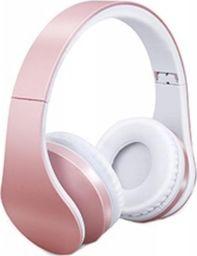 Słuchawki Roneberg Nauszne słuchawki bezprzewodowe RH-811 : KOLOR - RÓŻOWY