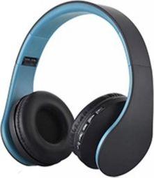 Słuchawki Roneberg Nauszne słuchawki bezprzewodowe RH-811 : KOLOR - CZARNO-NIEBIESKI