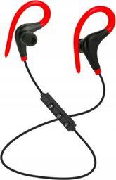 Słuchawki Roneberg Douszne bezprzewodowe słuchawki do biegania RB1 : KOLOR - CZARNO-CZERWONY