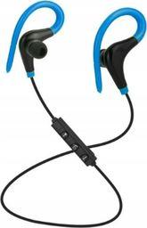 Słuchawki Roneberg Douszne bezprzewodowe słuchawki do biegania RB1 : KOLOR - CZARNO-NIEBIESKI