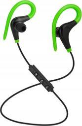 Słuchawki Roneberg Douszne bezprzewodowe słuchawki do biegania RB1 : KOLOR - CZARNO-ZIELONY