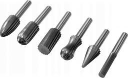 Yato frezy trzpieniowe do metalu Fi 6mm komplet 6 sztuk (YT-61711)