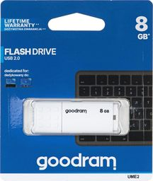 Pendrive GoodRam GOODRAM FLASHDRIVE 8GB UME2 USB 2.0 WHITE