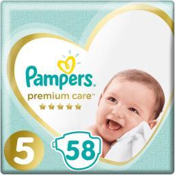 Pampers Pieluchy Premium Care 5 58 szt.