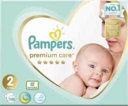 Pampers Zestaw pieluch Premium Care Mega Box 2 (4-8 kg); 148
