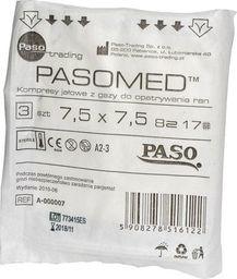 Paso-trading Kompresy jałowe 7,5 x 7,5 cm 3 szt.
