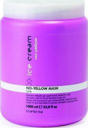 Inebrya Ice Cream No-Yellow Mask maska do włosów blond rozjaśnianych i siwych 1000ml