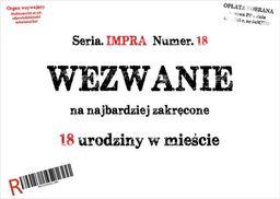 Congee.pl Zaproszenia personalizowane Wezwanie na urodziny - 8 szt. uniwersalny