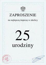 Congee.pl Zaproszenia personalizowane Świadectwo na urodziny - 8 szt. uniwersalny
