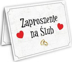 DP Zaproszenie ślubne z kopertą - 1 szt.  uniwersalny