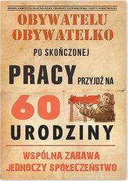 DP Zaproszenie urodzinowe 60-tka dla obywateli - 1 szt. uniwersalny