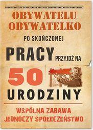 DP Zaproszenie urodzinowe 50-tka dla obywateli - 1 szt. uniwersalny