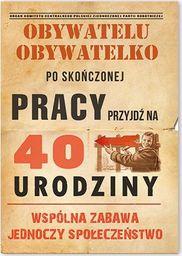 DP Zaproszenie urodzinowe 40-tka dla obywateli - 1 szt. uniwersalny