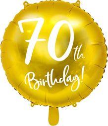Party Deco Balon foliowy złoty - 70th Birthday - 45 cm - 1 szt. uniwersalny