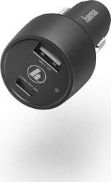 """Ładowarka Hama ŁADOWARKA SAMOCHODOWA """"Qualcomm® Quick Charge™/ Power Delivery (PD), +USB-A 42WATT, CZARNA"""