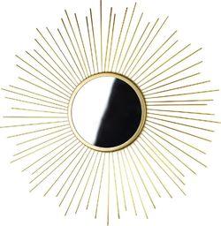 Mondex Lustro ścienne ZŁOTE dekoracyjne w złotej ramie uniwersalny