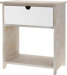 Home Styling Collection Szafka nocna z szufladą komoda stolik pod lampę uniwersalny