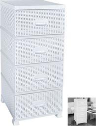 Orion Komoda rattan / szafka 4 szuflady BIAŁA uniwersalny