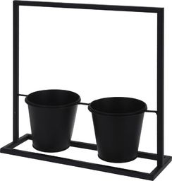ProGarden Kwietnik metalowy stojak podstawa 2x doniczka uniwersalny