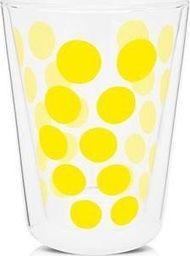 Zak!designs Zak! - Szklanka z podw. ściankami 350 ml, żółta uniwersalny