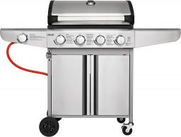 Koler grill gazowy Relish V1 z rusztem żeliwym 66x40 cm palniki 4+1 - srebrny v2021