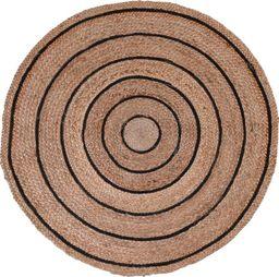 Eh Excellent Houseware Dywanik DYWAN  pleciony z juty okrągły 90 cm uniwersalny