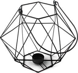 Mondex Świecznik latarnia LAMPION metalowy czarny loft uniwersalny