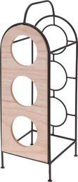 Home Styling Collection Stojak metalowy na 3 butelki WINA regał do wina uniwersalny