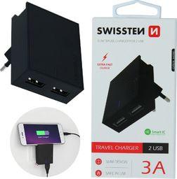 Ładowarka Swissten SWISSTEN, Sieciowy adapter, 100-240V, 5V, 3000mA, do ładowania telefonów i innych urządzeń, czarny