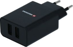 Ładowarka Swissten Z microUSB kabelem, 100-240V, 5V, 2100mA, do ładowania telefonów i innych urządzeń, czarny
