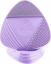 Roneberg Silikonowa szczoteczka soniczna do twarzy trójkątna fioletowa