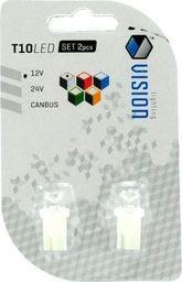 Żarówka LED Vision 12V T10 - 0,18W wklęsła biała 2szt uniwersalny