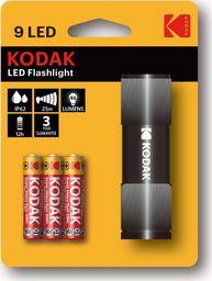 Latarka Kodak Mini Latarka Ręczna Kodak 9 Led Ip62 25m + 3x Aaa - Czarna