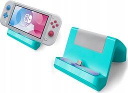 MARIGames Ładowarka Podstawka Stacja Dokująca 2w1 Do Nintendo Switch Lite - Turkusowa