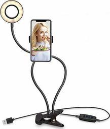 Xrec Zestaw Selfie - Statyw Elastyczny / Lampa Pierścieniowa Led Na Telefon / Smartfon