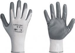 """Lahti Pro rękawice nitrylowe, szaro-białe, rozmiar """"10"""" (L220310K)"""